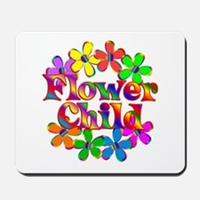 Retro Flower Child Mousepad