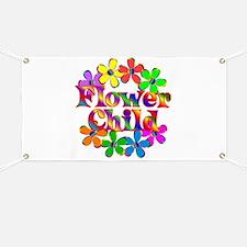 Retro Flower Child Banner