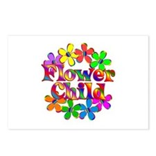 Retro Flower Child Postcards (Package of 8)