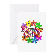 Retro Flower Child Greeting Card