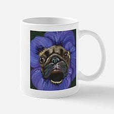 Pug Pansy Dog Art Mugs