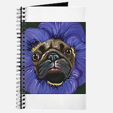 Pug Pansy Dog Art Journal