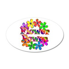 Retro Flower Power 20x12 Oval Wall Decal