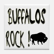 Buffalos Rock ! Tile Coaster