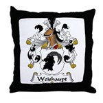 Weishaupt Family Crest  Throw Pillow