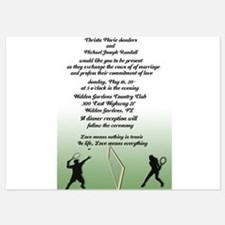 Tennis Playing Couple 5x7 Flat Cards