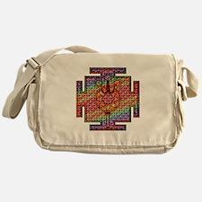 Trident Shiva Yantra Psychedelic Messenger Bag