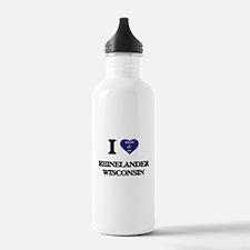 I love Rhinelander Wis Water Bottle
