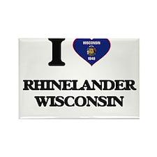 I love Rhinelander Wisconsin Magnets