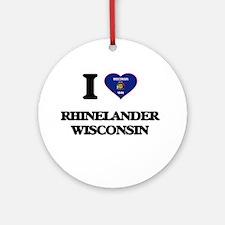 I love Rhinelander Wisconsin Ornament (Round)