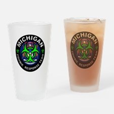 Michigan Zombie Response Team Green Drinking Glass