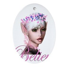 believe head.png Ornament (Oval)