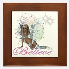 believe fairy moon.png Framed Tile