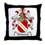 Weinzierl Family Crest Throw Pillow