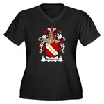 Weinzierl Family Crest Women's Plus Size V-Neck Da
