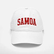 SAMOA (red) Baseball Baseball Cap