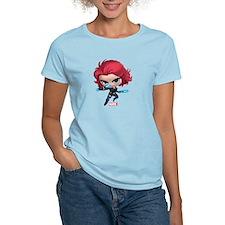 Chibi Black Widow Stylized T-Shirt