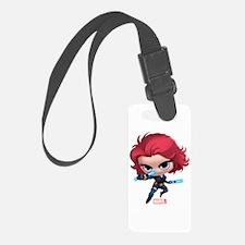 Chibi Black Widow Stylized Luggage Tag