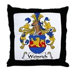 Weinrich Family Crest Throw Pillow
