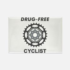 Drug-Free Cyclist/Cycling Rectangle Magnet (10 pac