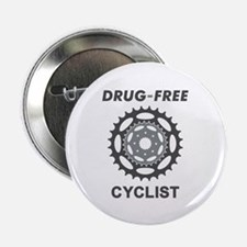 "Drug-Free Cyclist/Cycling 2.25"" Button (10 pack)"