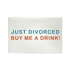 Just Divorced Buy Me A Drink Rectangle Magnet