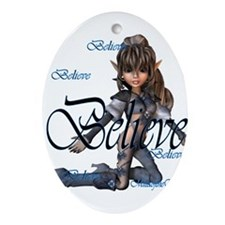 believe elf.png Ornament (Oval)