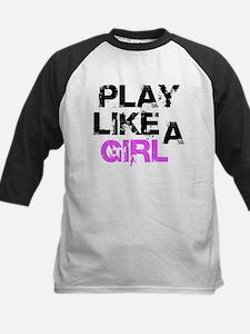Play Like A Girl Kids Baseball Jersey