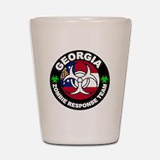 Georgia Zombie Response Team White Shot Glass