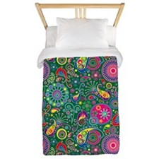 Flowers and Bugs on Acid on Twin Duvet