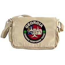 Georgia Zombie Response Team White Messenger Bag