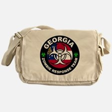 Georgia Zombie Response Team White Messenger Bag