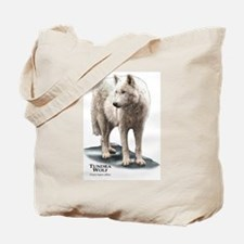 Tundra Wolf Tote Bag