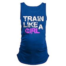 Train Like A Girl Maternity Tank Top
