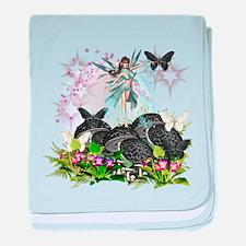 Garden Fairies - Elf Series 11 baby blanket