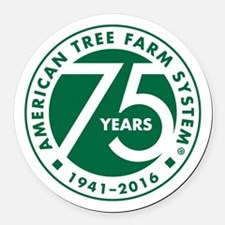 Atfs 75th Anniversary Logo Round Car Magnet
