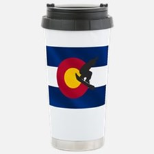 Colorado Snowboard Flag Travel Mug