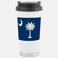 South Carolina State Flag Stainless Steel Travel M