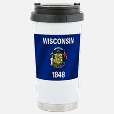 Wisconsin State Flag Travel Mug