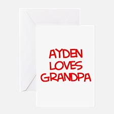 Ayden Loves Grandpa Greeting Card