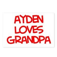 Ayden Loves Grandpa Postcards (Package of 8)