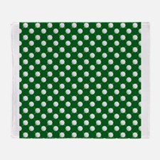 Golf Balls and Tees on Green Throw Blanket