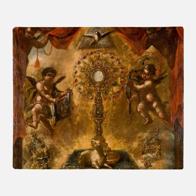 Allegory of the Eucharist Throw Blanket