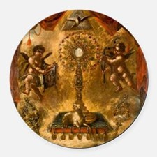 Allegory of the Eucharist Round Car Magnet
