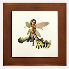 Yellow Fairy Framed Tile