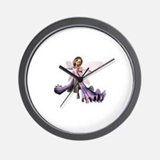 Little Purple Fairy Wall Clock