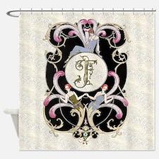 Monogram F Barbier Cabaret Shower Curtain
