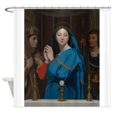 The Virgin Adoring the Host Shower Curtain