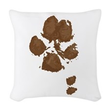 Muddy double dew print Woven Throw Pillow