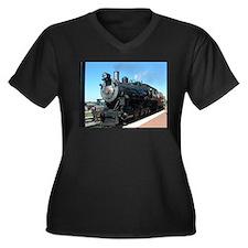 Steam train rolling along Plus Size T-Shirt